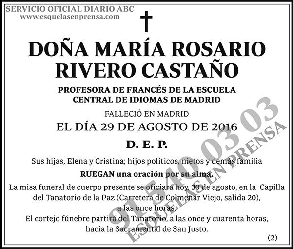 María Rosario Rivero Castaño